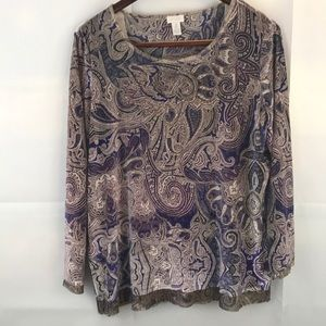 Chico's size 3 or US size XL Long sleeve Blouse